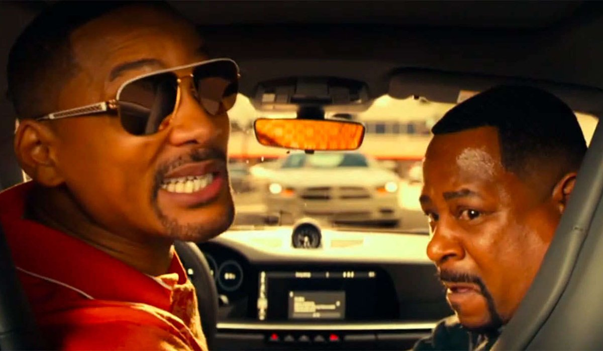 Bad Boys For Life Will Smith grins while scaring Martin Lawrence