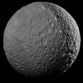 Saturn's moon Mimas by Cassini