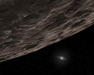 An artist's concept of a Kuiper Belt Object (KBO). A newly discovered object (2014 UZ224) located beyond Pluto's orbit may be large enough to qualify as a dwarf planet.