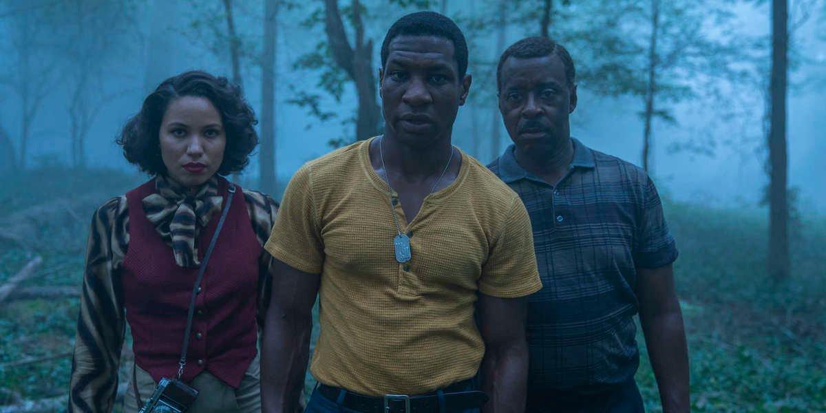 Jurnee Smollett, Jonathan Majors, and Courtney B. Vance in Lovecraft Country
