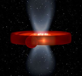 Black hole binary system Swift J1357.2-0933 has an odd mystery structure.
