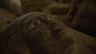 The painted coffins found at Saqqara were well preserved.