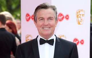 Bradley Walsh at the Baftas, wearing a tux and bowtie