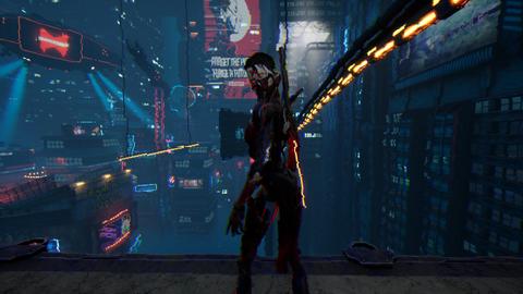Tangkapan layar Ghostrunner.
