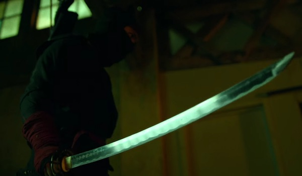 mysterious figure with samurai sword in daredevil season 2