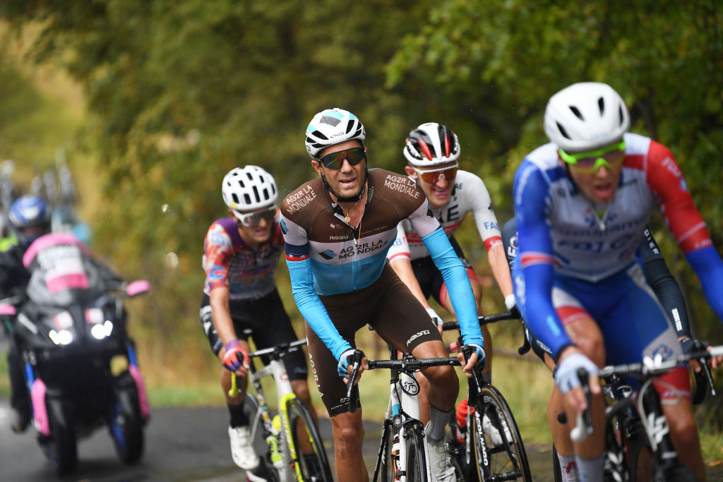 ROCCARASO ITALY OCTOBER 11 Larry Warbasse of The United States and Team Ag2R La Mondiale Breakaway during the 103rd Giro dItalia 2020 Stage 9 a 207km stage from San Salvo to Roccaraso Aremogna 1658m girodiitalia Giro on October 11 2020 in Roccaraso Italy Photo by Tim de WaeleGetty Images