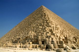 The Great Pyramid of Giza was built about 4,500 years ago.