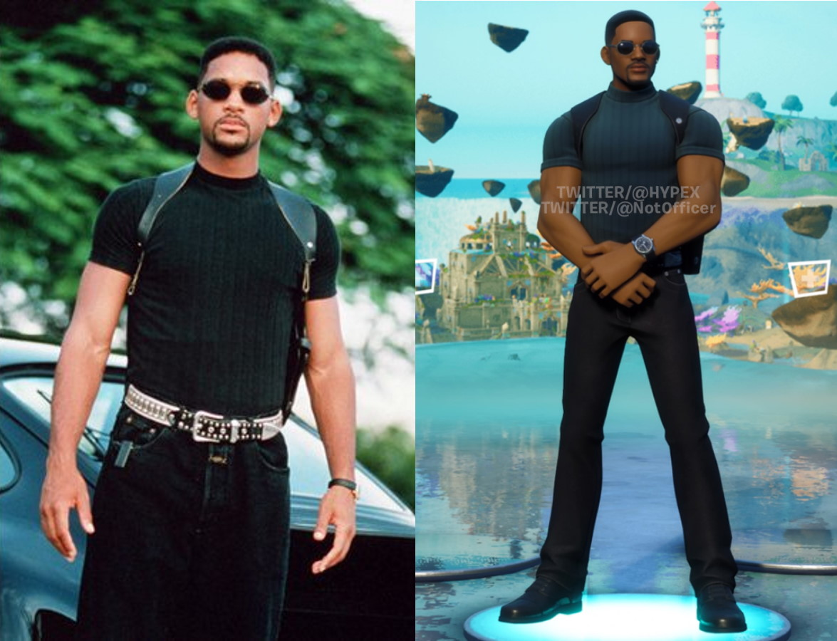 Will Smith in Bad Boys and Fortnite
