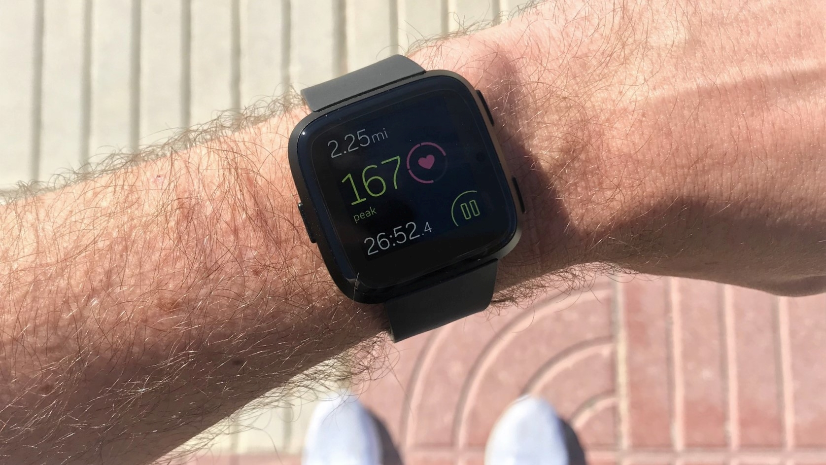The Versa's Run Detect feature means it automatically pauses your workout if you stop for a short break