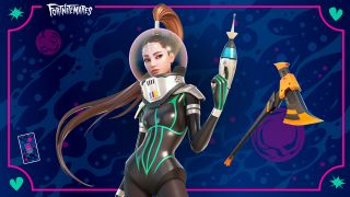 """Ariana Grande is ready to take on monsters in this space-themed outfit for """"Fortnite."""""""