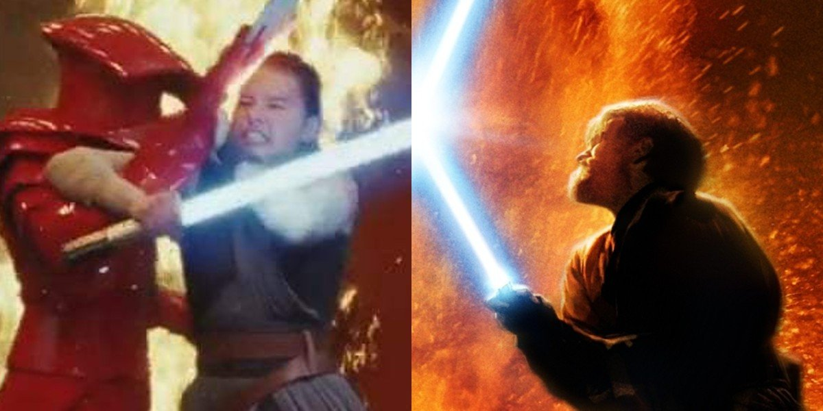 Sequels on the left, prequels on the right