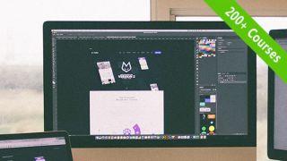 Mac screen displaying a design project in progress