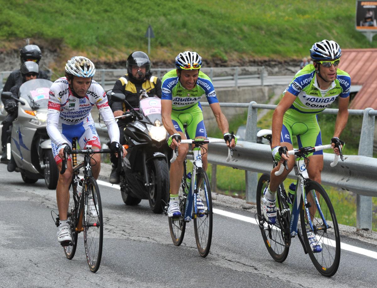 Vincenzo Nibali, Ivan Basso and Michele Scarponi, Giro d'Italia 2010, stage 19