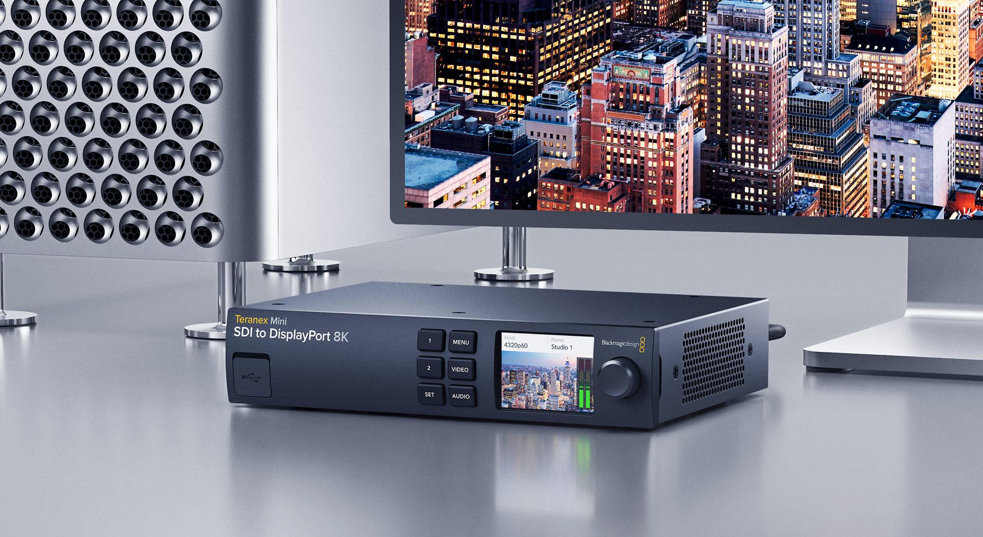 Blackmagic Design Announces Teranex Mini Sdi To Displayport 8k Hdr Now Shipping Broadcasting Cable