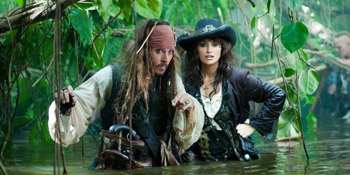 Johnny Depp and Penelope Cruz in official Pirates of the Caribbean: On Stranger Tides still