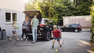Charging an electric car at home