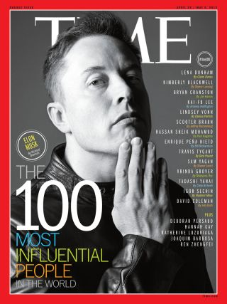 Elon Musk Time cover