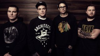 Burt, far right, with The Amity Affliction