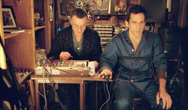 Meet The Parents Robert De Niro Ben Stiller engaging in a basement interrogation