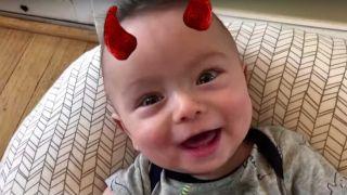 Singing AC/DC baby