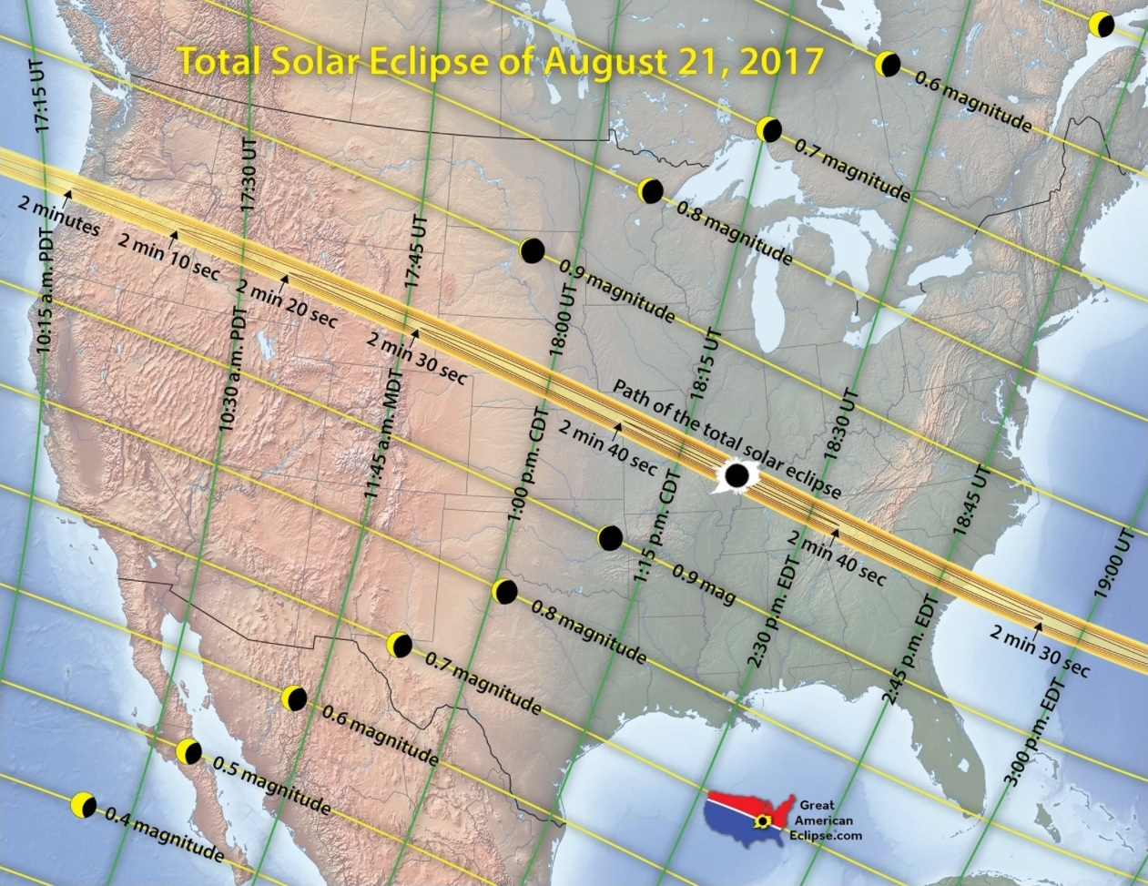 Solar Eclipse 2017 Highway Traffic Map.Solar Eclipse 2017 Traffic And Weather Forecasts For States In