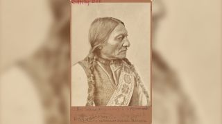 A photo of Legendary Native American leader Sitting Bull taken in 1885.