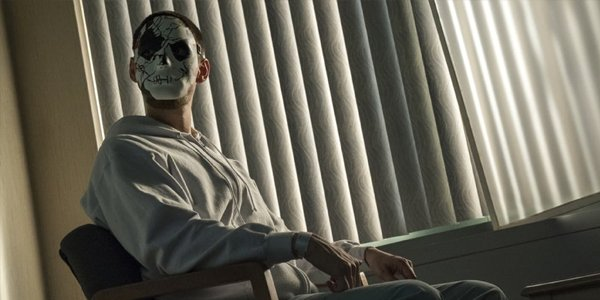 Billy Russo a.k.a. Jigsaw wears his mask in The Punisher Season 2