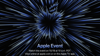 Invite to Apple 18th October 2021 event, titled 'Unleashed'