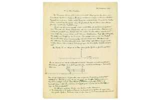 In a letter that Albert Einstein wrote in 1945, the famous physicist sketched two diagrams demonstrating a novel approach to the thought experiment called the Einstein-Podolsky-Rosen (EPR) paradox.