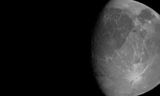 An image of Ganymede obtained by Juno's June 7 flyby.