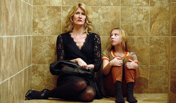 The Tale Laura Dern Isabelle Nelisse sitting in a dry shower thinking