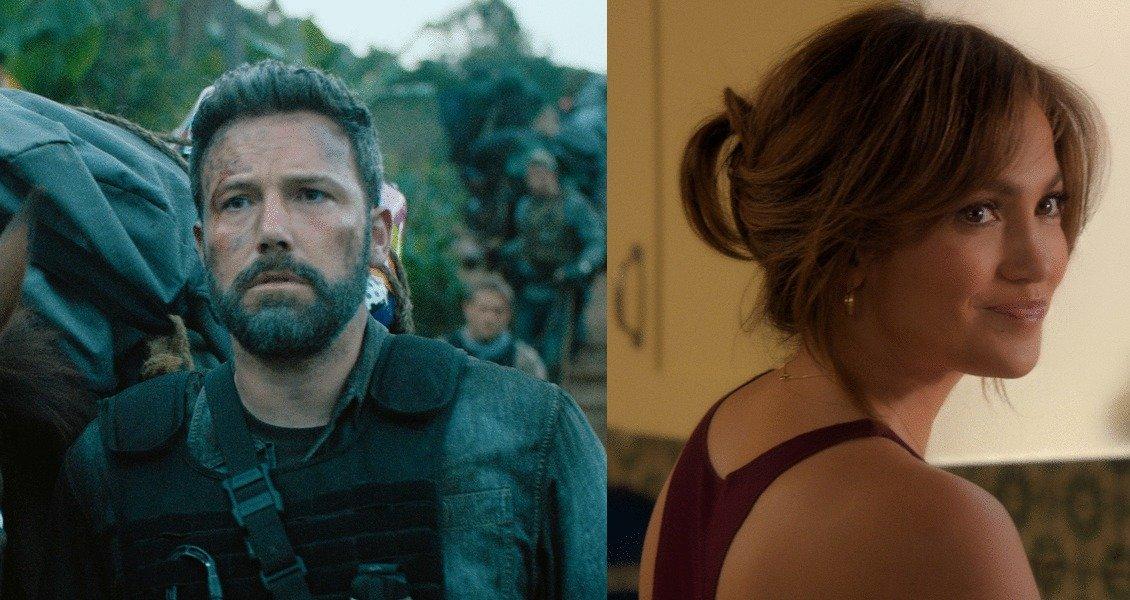 Ben Affleck in Triple Frontier and Jennifer Lopez in The Boy Next Door