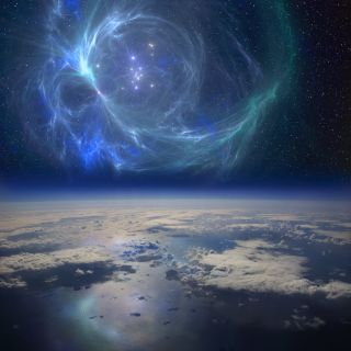 nebula above earth