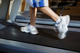 A person running on the treadmill.