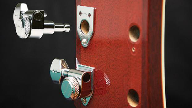 Graph Tech makes guitar machine head changes easy with Inviso-Match Mounting System