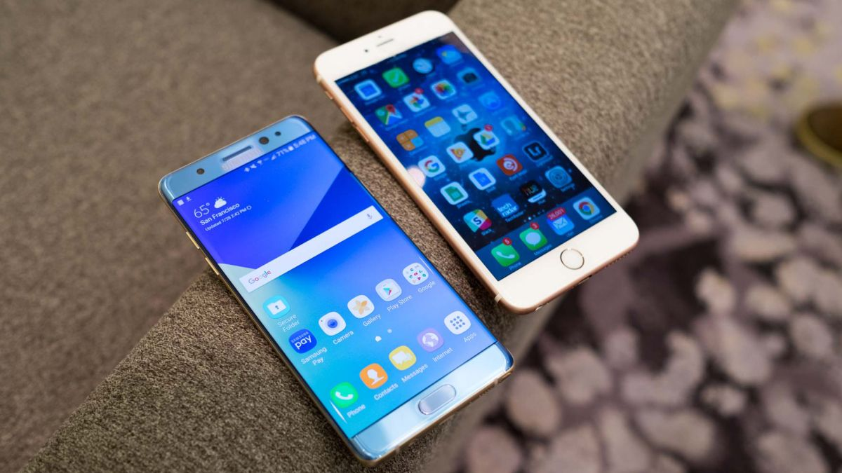 7f3eabbe2ab Samsung Galaxy Note 7 vs iPhone 6S Plus | TechRadar