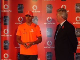 Lewis Hamilton launches the Vodafone-exclusive BlackBerry Storm