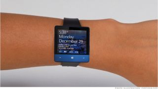 Microsoft smartwatch mock-up