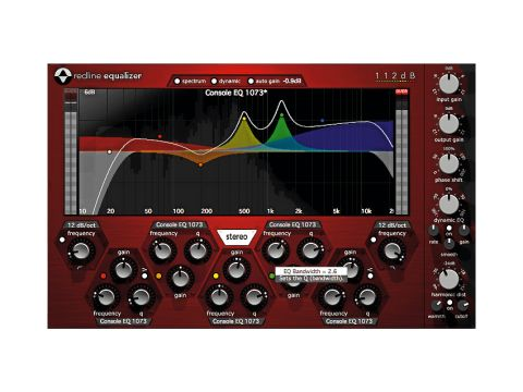 Redline EQ features five separate bands.