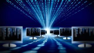 Binary over monitors abstract