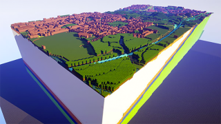 Chunks of Britain's geology are being recreated in Minecraft