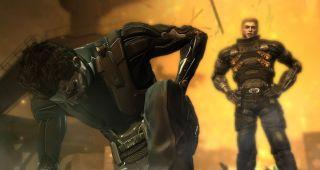 Deus Ex Human Revolution - Jensen takes a knee