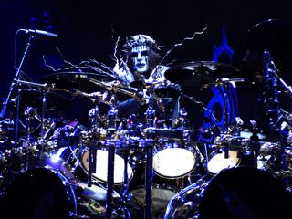 Jordison onstage with Slipknot in Sacramento, 2009