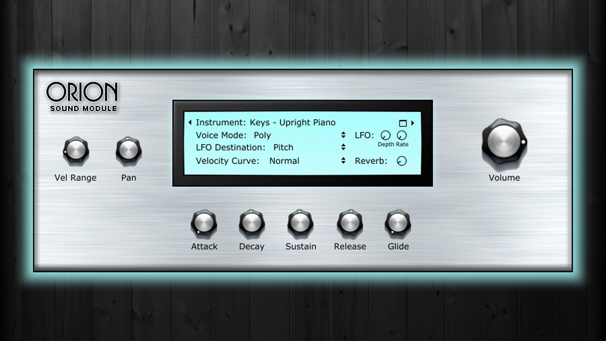 Free Orion ROMpler plugin gives you 3GB of sounds to play