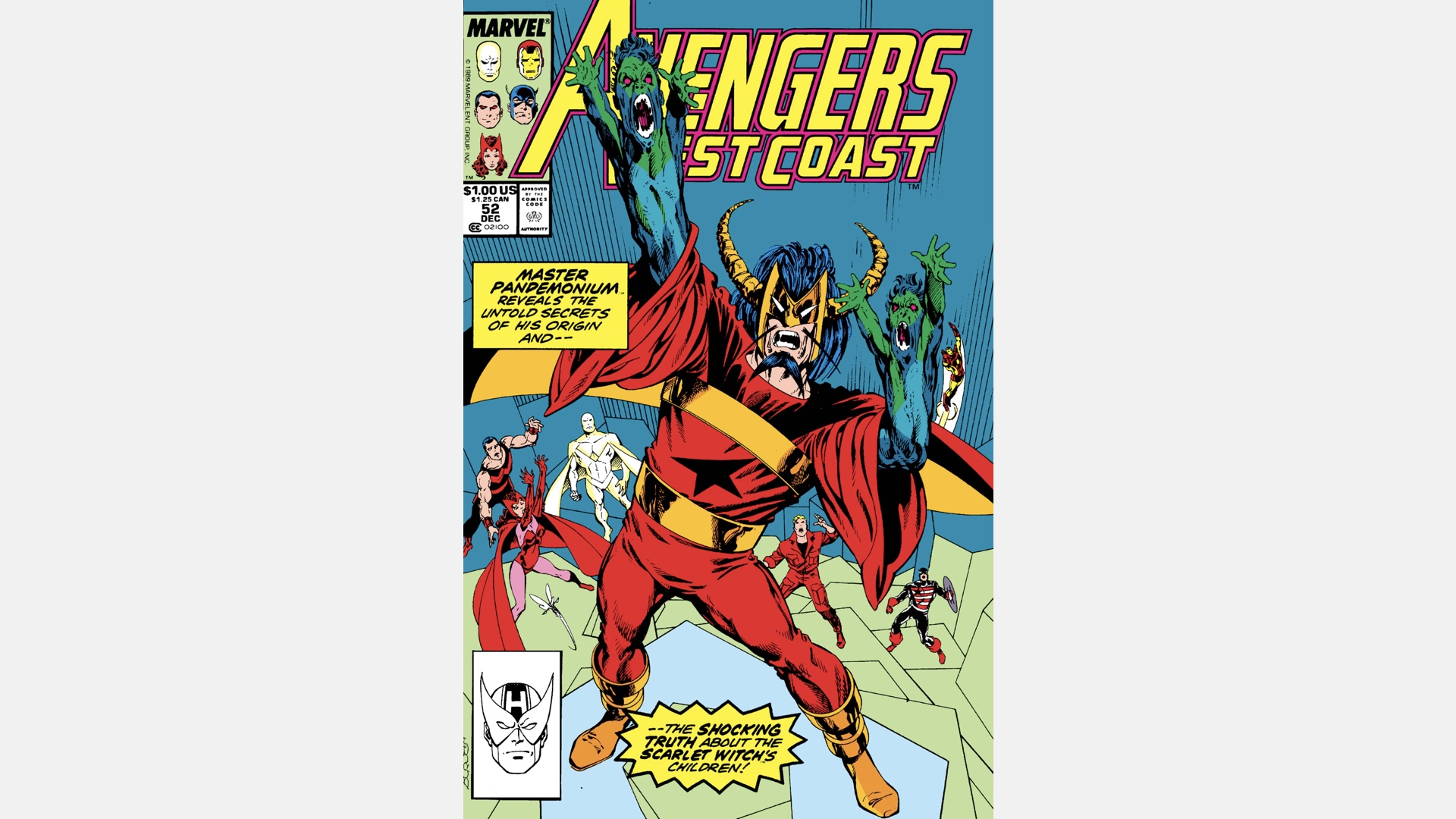 cover of West Coast Avengers #52