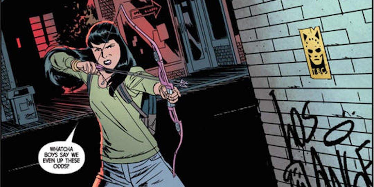 Kate Bishop as Hawkeye in the Marvel Comics