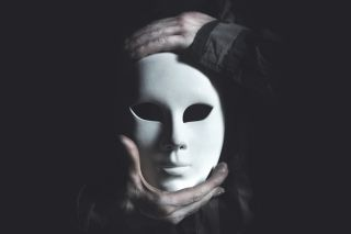 theater mask, scary
