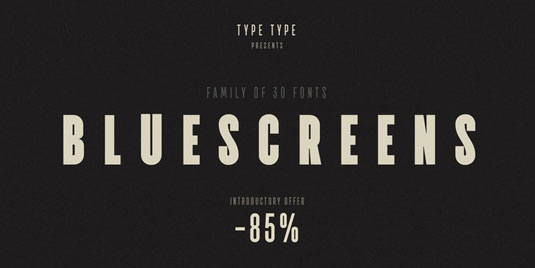 Font of the day: TT Bluescreens