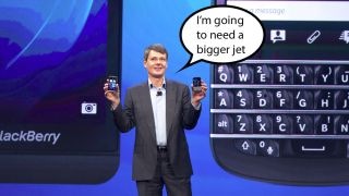 BlackBerry's latest jam sees it jet into financial thunderstorm