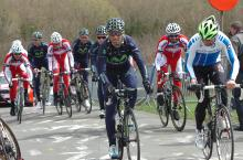 Alajendro Valverde is raced to the top by journalist Davide Cassani